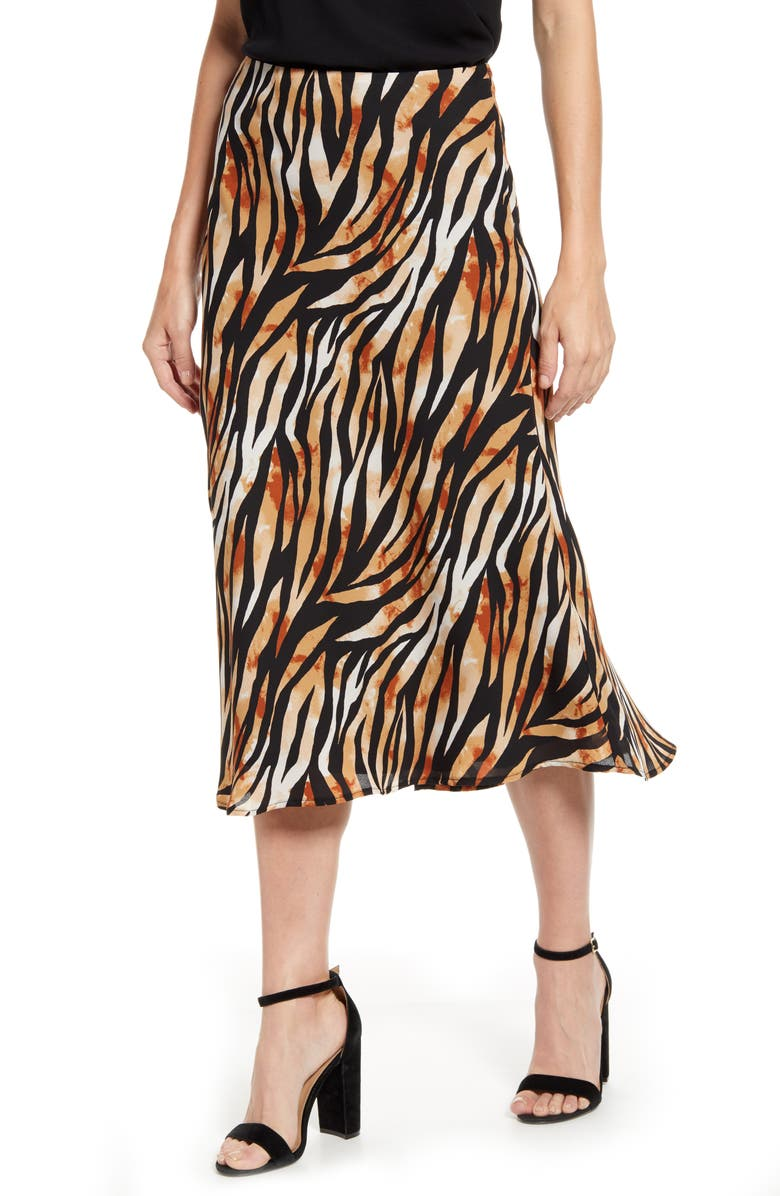 GIBSONLOOK Gibson x Hot Summer Nights Roselyn Pleated Maxi Skirt, Main, color, 008