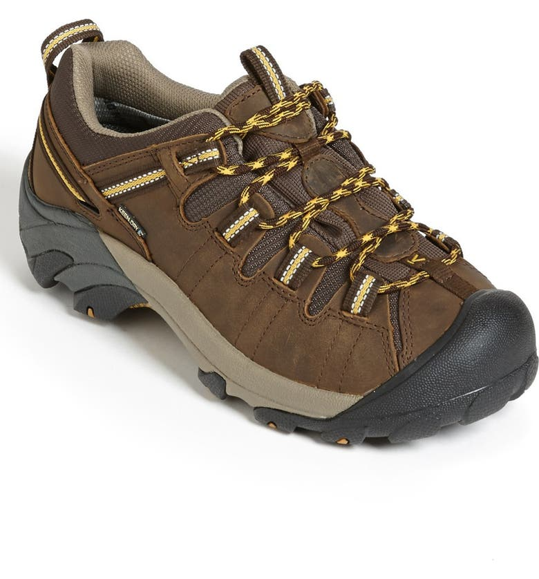 KEEN 'Targhee II' Waterproof Hiking Shoe, Main, color, CASCADE BROWN/ GOLDEN YELLOW
