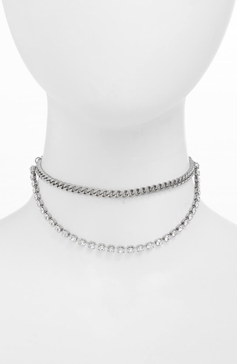 JUSTINE CLENQUET Betty Layered Necklace, Main, color, 040