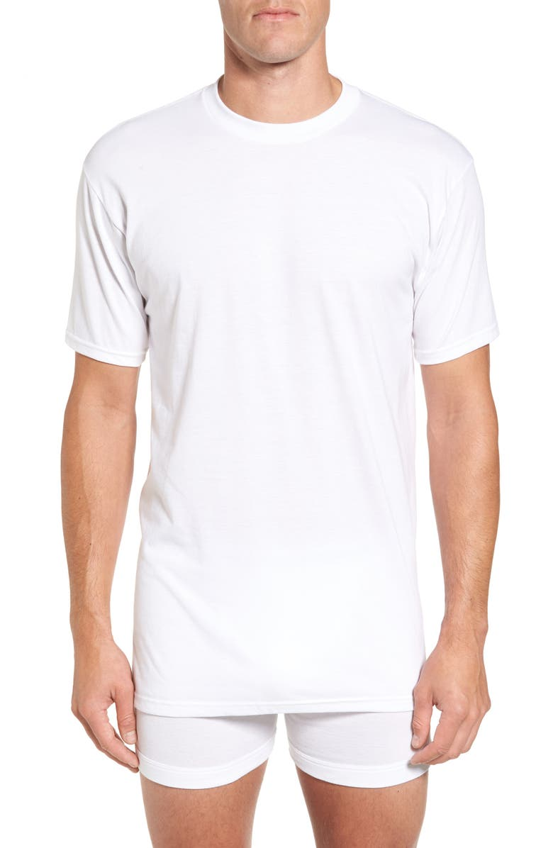 NORDSTROM Regular Fit 4-Pack Supima<sup>®</sup> Cotton T-Shirts, Main, color, WHITE