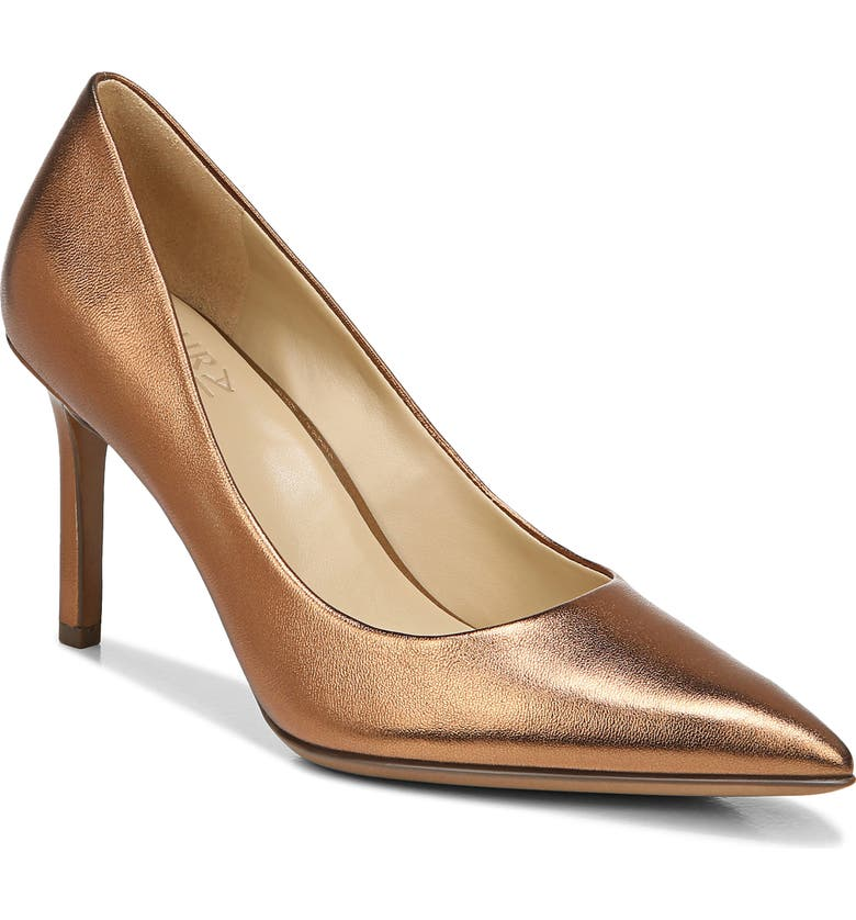 NATURALIZER Anna Pointed Toe Pump, Main, color, COPPER LEATHER