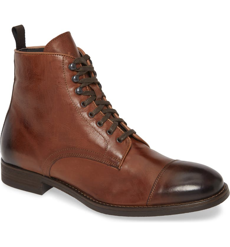 TO BOOT NEW YORK Richmond Cap Toe Lace-Up Boot, Main, color, BRANDY