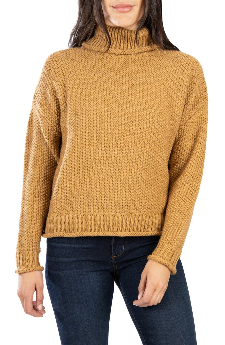 KUT FROM THE KLOTH Hailee Turtleneck Sweater, Main, color, CAMEL