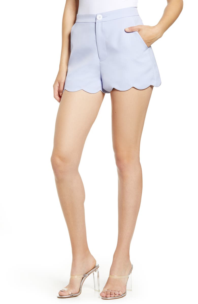 ENGLISH FACTORY Scallop Edge Shorts, Main, color, 400