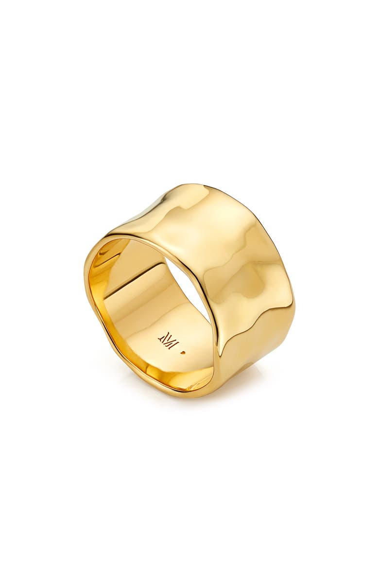 MONICA VINADER Siren Muse Wide Ring, Main, color, YELLOW GOLD