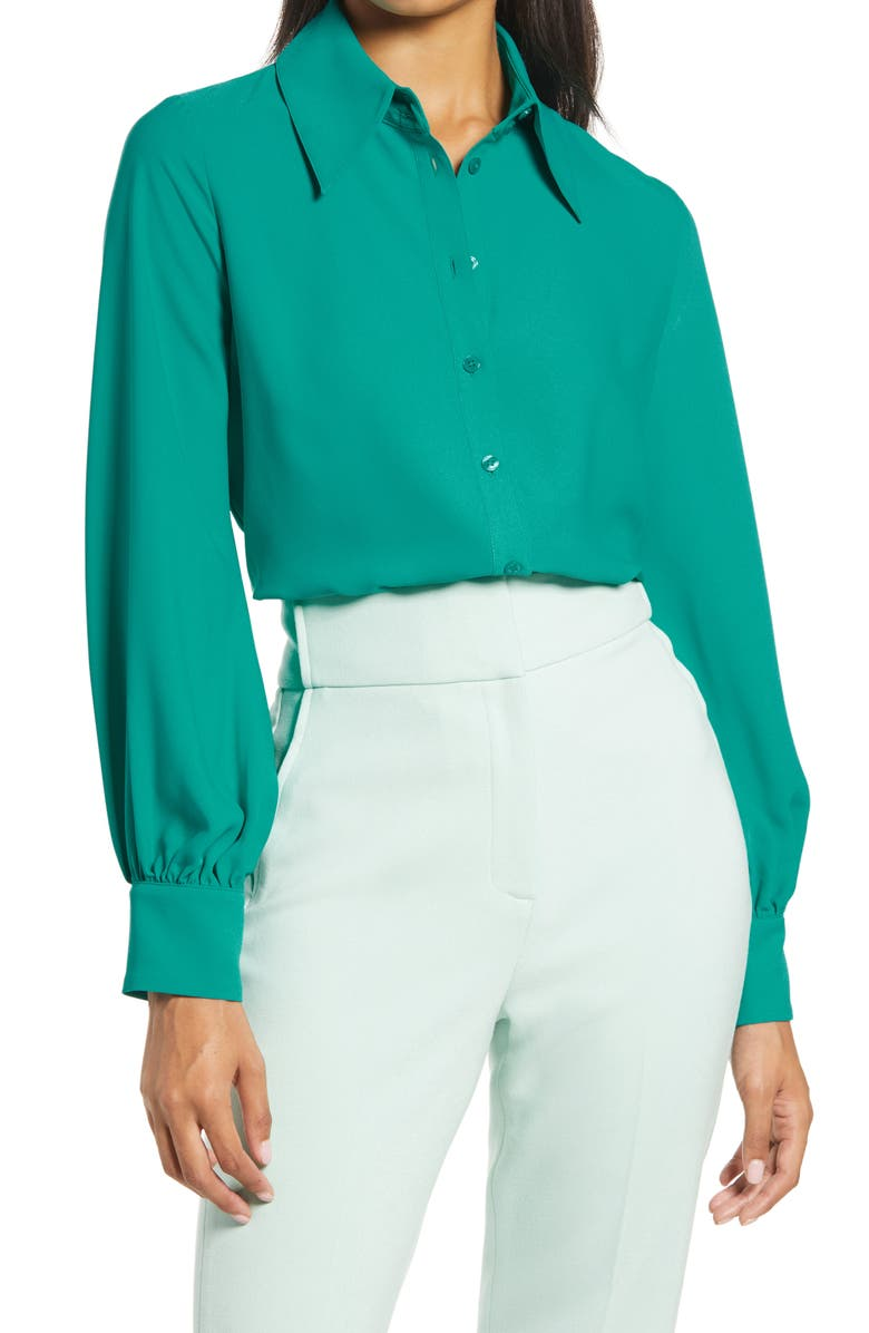 HALOGEN<SUP>®</SUP> x Atlantic-Pacific Puff Sleeve Button-Up Shirt, Main, color, 440