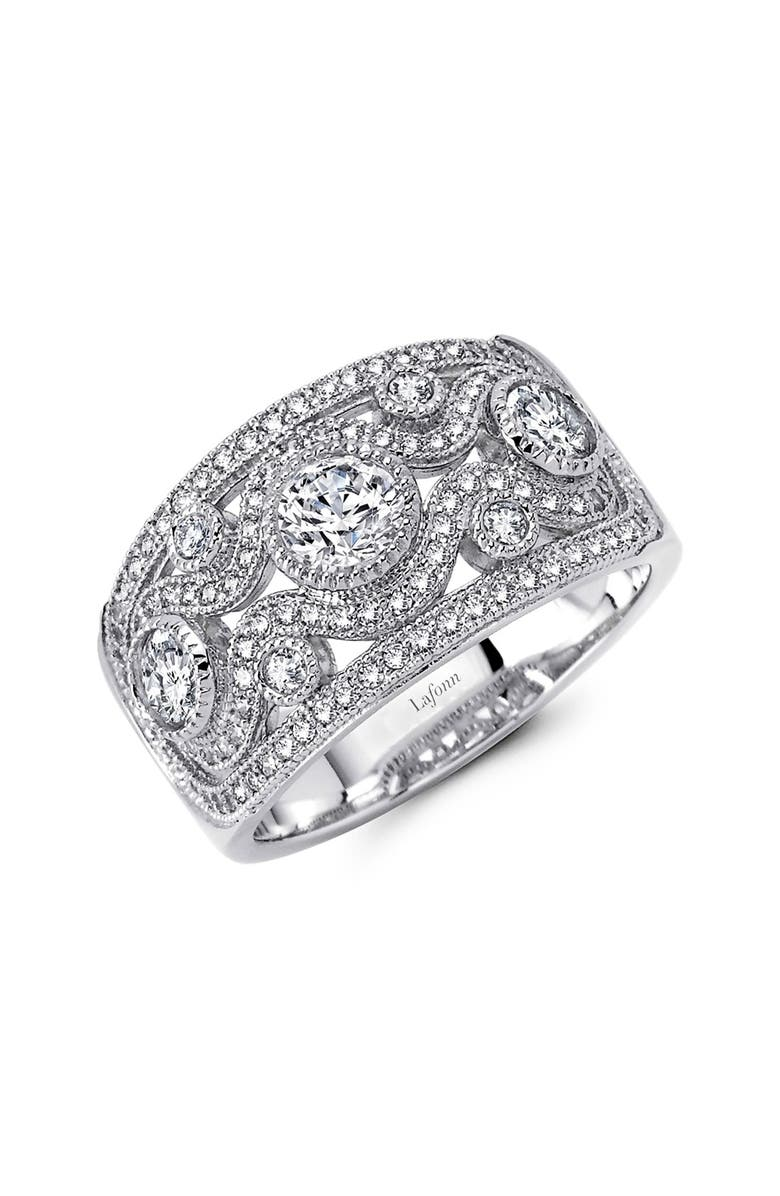 LAFONN Classic Wide Band Ring, Main, color, SILVER