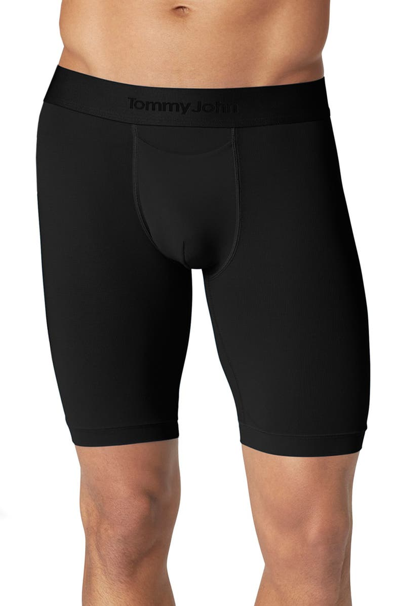 TOMMY JOHN Air Boxer Briefs, Main, color, BLACK