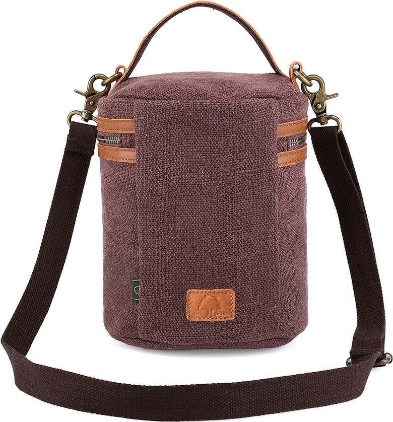 THE SAME DIRECTION Pine Hills Canvas Bucket Bag, Main, color, COFFEE