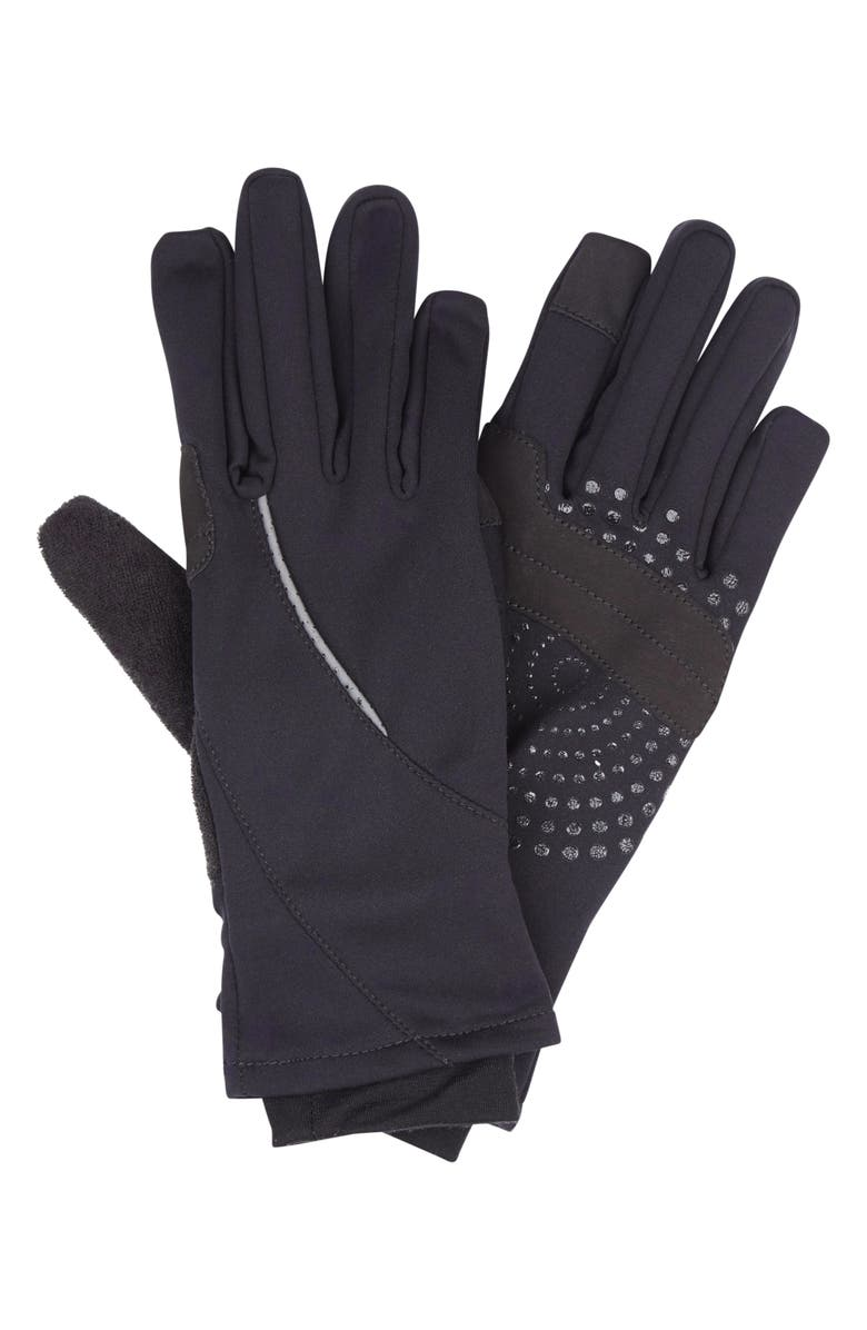 SWEATY BETTY Tech Running Gloves, Main, color, BLACK