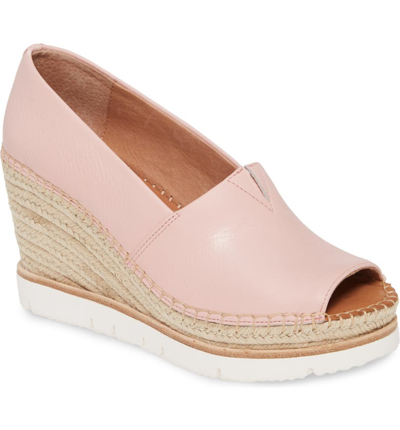 GENTLE SOULS BY KENNETH COLE Elyssa Wedge Sandal, Main, color, PINK LEATHER