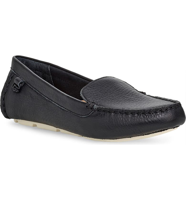 UGG<SUP>®</SUP> Flores Driving Loafer, Main, color, 001