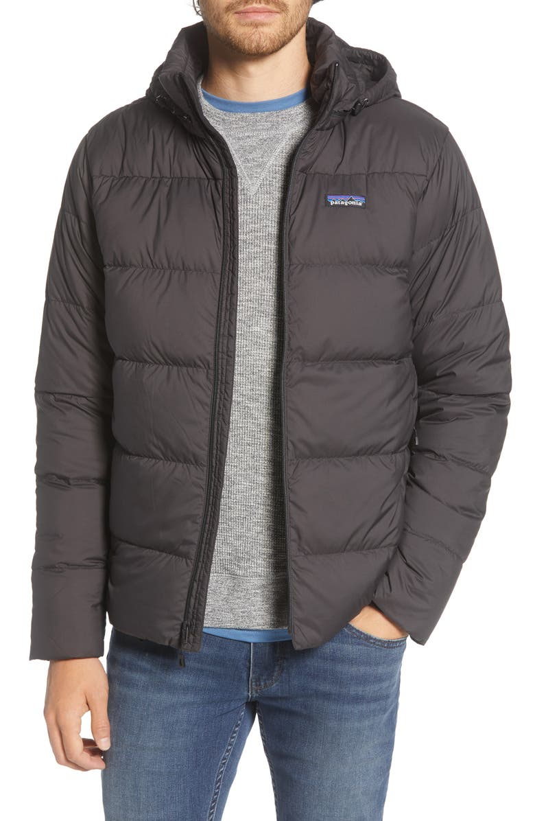PATAGONIA Silent Water Repellent 700 Fill Power Down Jacket, Main, color, BLACK