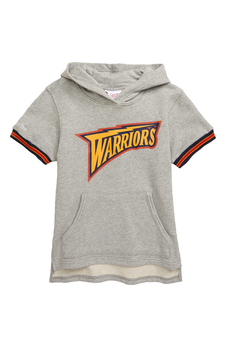 MITCHELL & NESS Golden State Warriors French Terry Hoodie, Main, color, 020