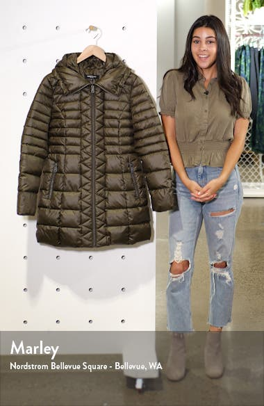 Hooded Packable Puffer Coat, sales video thumbnail