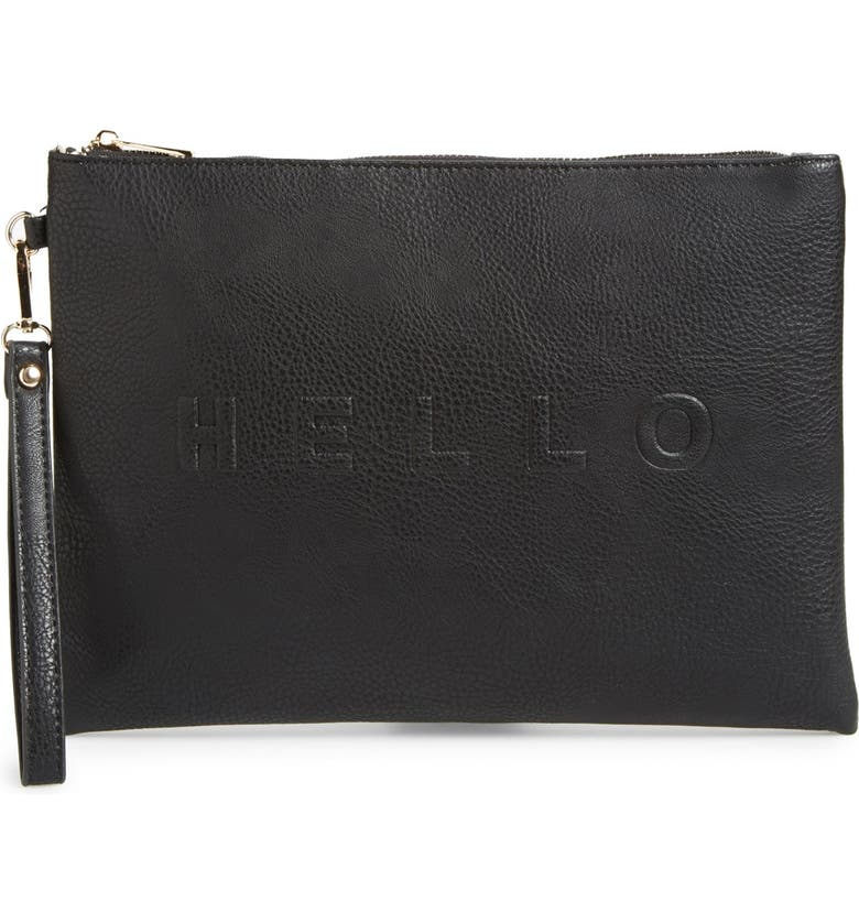 SOLE SOCIETY 'Justine - Conversation' Oversize Clutch, Main, color, 001