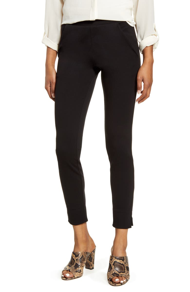 HUE 7/8 Ponte Leggings, Main, color, BLACK