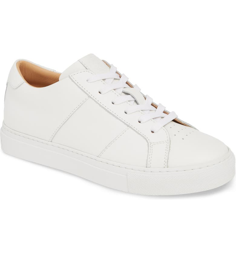 GREATS Royale Low Top Sneaker, Main, color, WHITE LEATHER