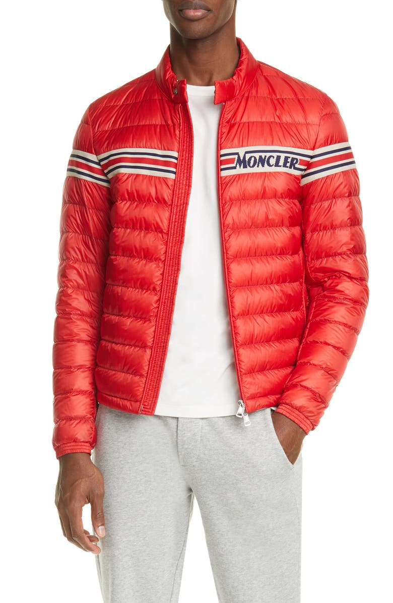 MONCLER Renald Puffer Down Jacket, Main, color, RED