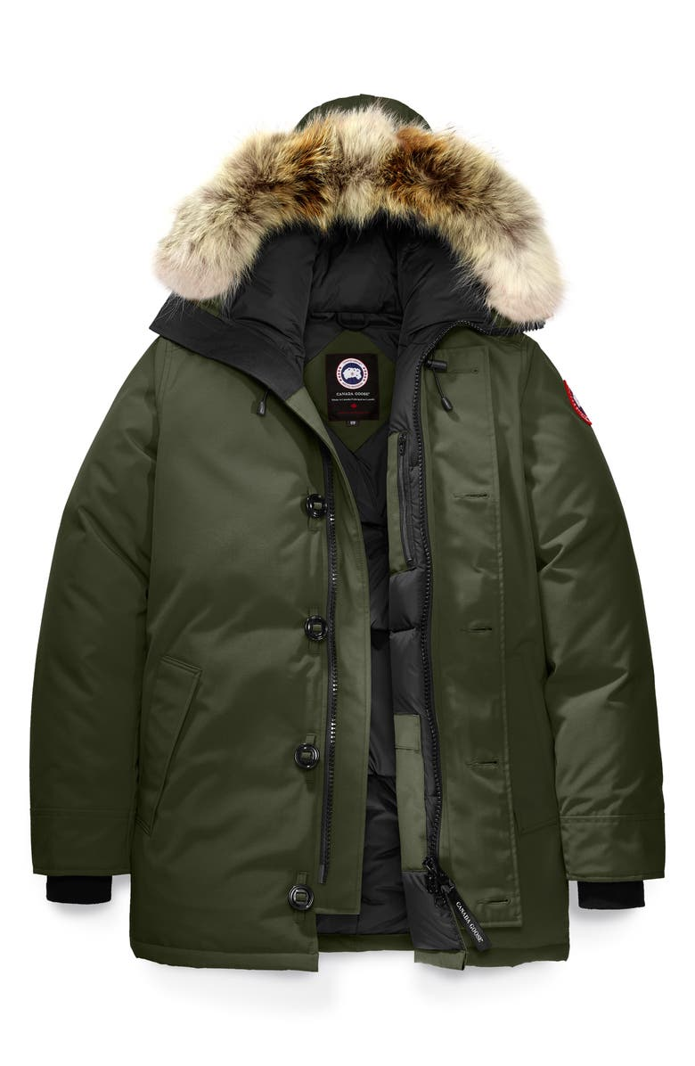 CANADA GOOSE Chateau Fusion Fit Parka with Genuine Coyote Fur Trim, Main, color, MILITARY GREEN