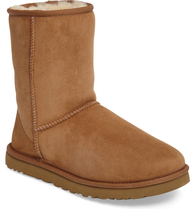 UGG<SUP>®</SUP> Classic Short Boot, Main, color, CHESTNUT