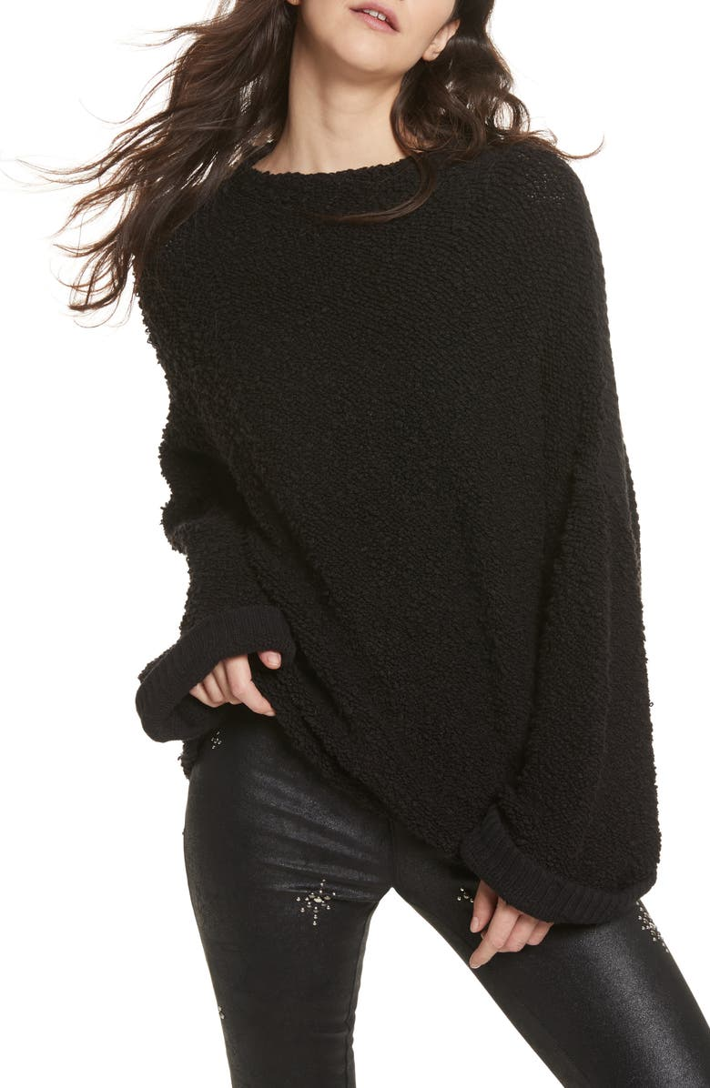 FREE PEOPLE Cuddle Up Pullover, Main, color, 001
