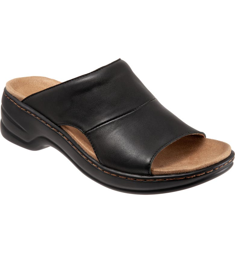 TROTTERS Nara Sandal, Main, color, BLACK LEATHER