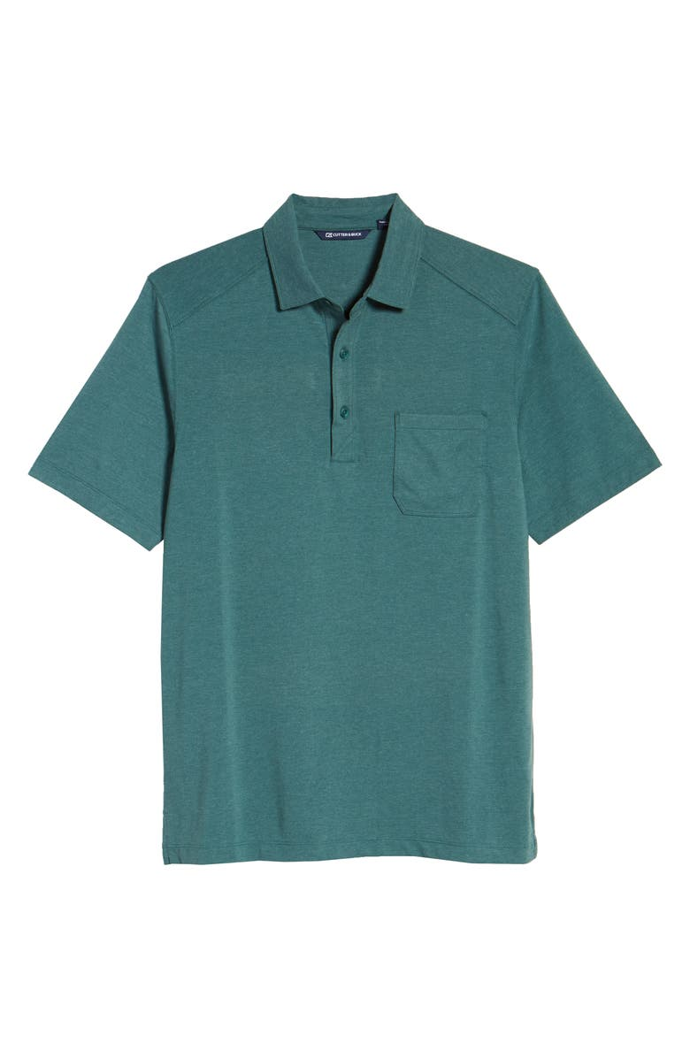 CUTTER & BUCK Advantage DryTec Jersey Polo, Main, color, SEAWEED HEATHER