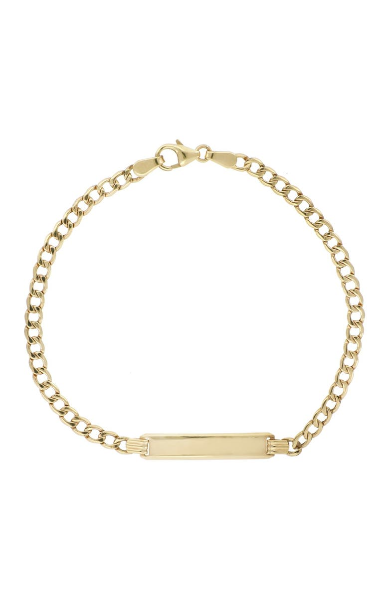BONY LEVY 14K Yellow Gold Engravable ID Tag Curb Link Chain Bracelet, Main, color, 14KY
