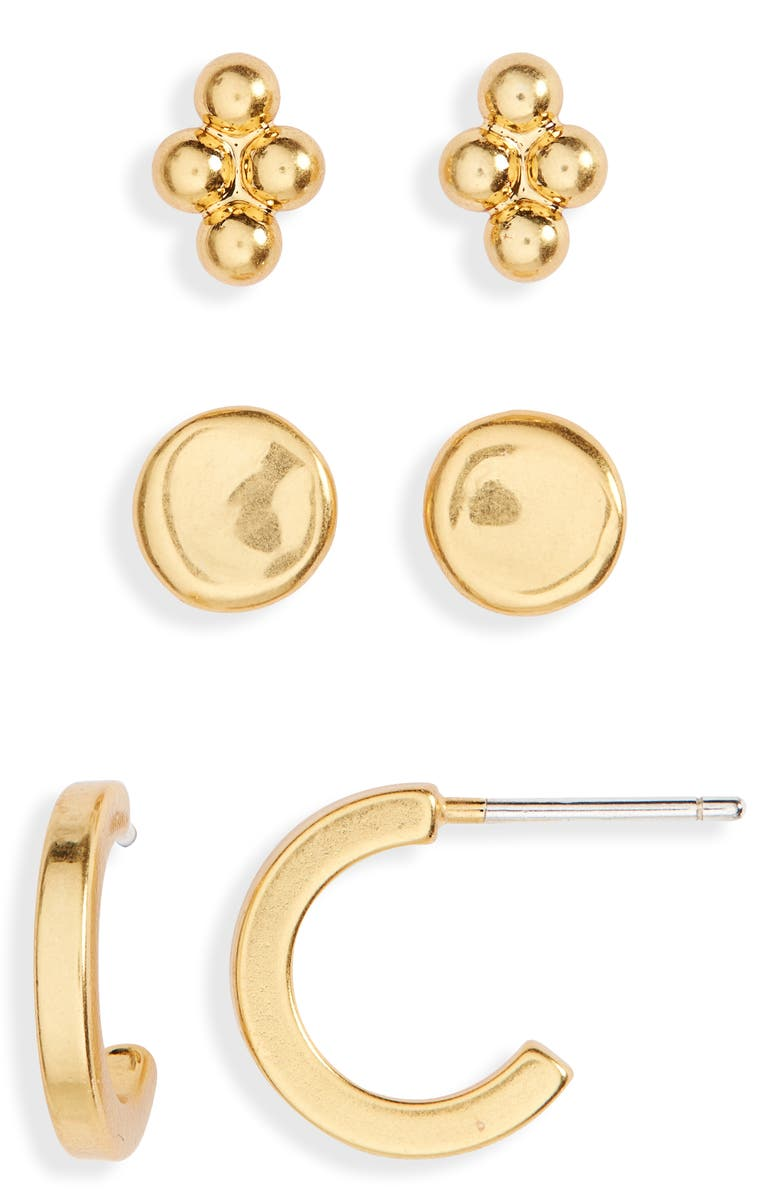 MADEWELL 3-Pack Classic Earring Set, Main, color, 710