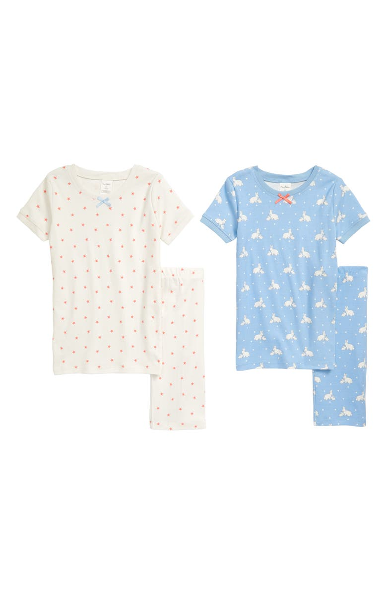 MINI BODEN 2-Pack Fitted Two-Piece Short Pajamas, Main, color, 454