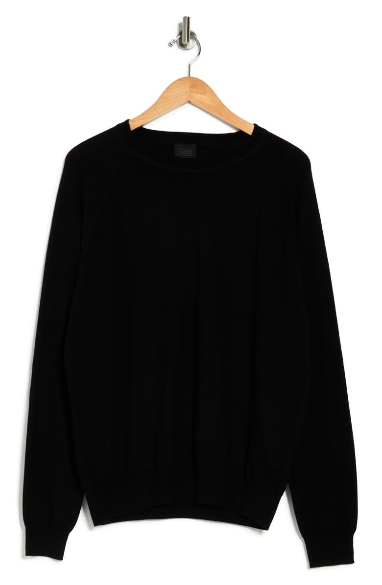 14TH AND UNION 14th & Union Performance Knit Pullover Sweater, Main, color, BLACK