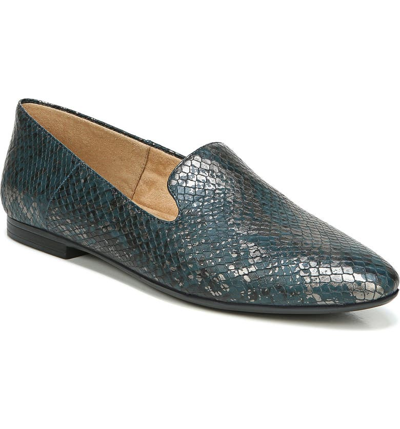 NATURALIZER Lorna Collapsible Heel Loafer, Main, color, KING FISHER SNAKE PRINT