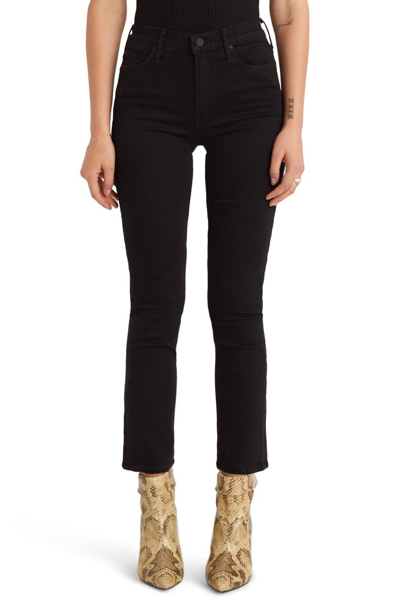MOTHER The Dazzler Ankle Straight Leg Jeans, Main, color, 001