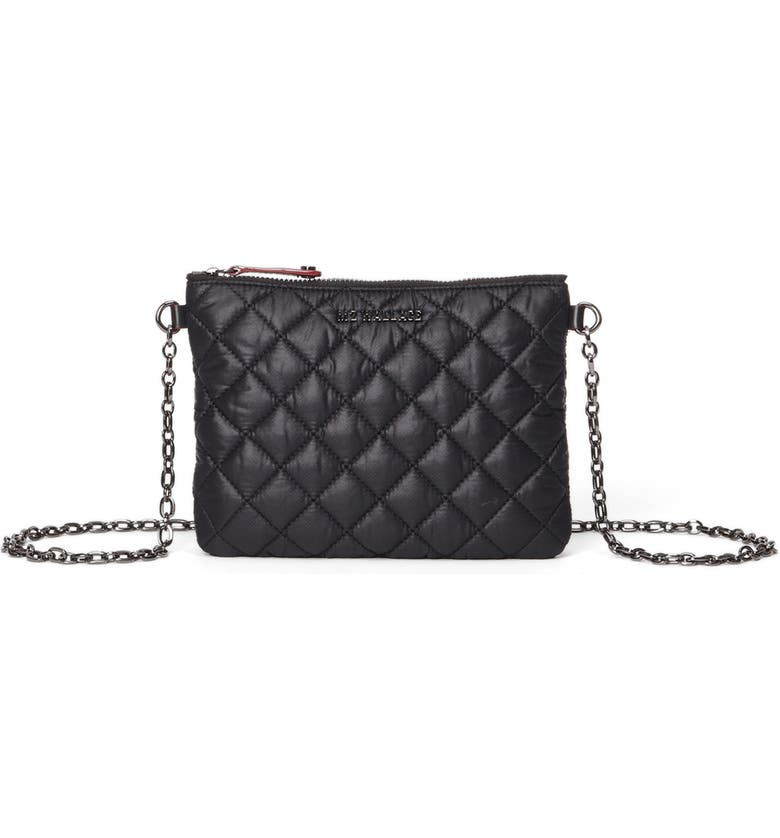 MZ WALLACE Ruby Quilted Crossbody Bag, Main, color, BLACK