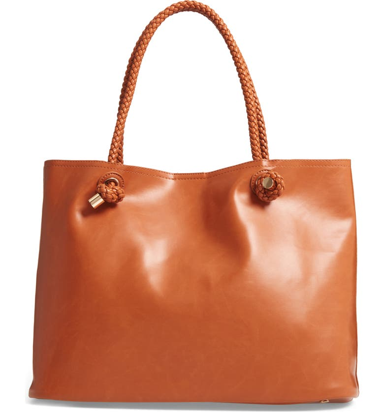 SOLE SOCIETY Shaynelee Faux Leather Tote, Main, color, 200