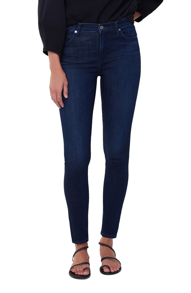 CITIZENS OF HUMANITY Rocket Mid Rise Skinny Jeans, Main, color, TIMELESS DARK INDIGO