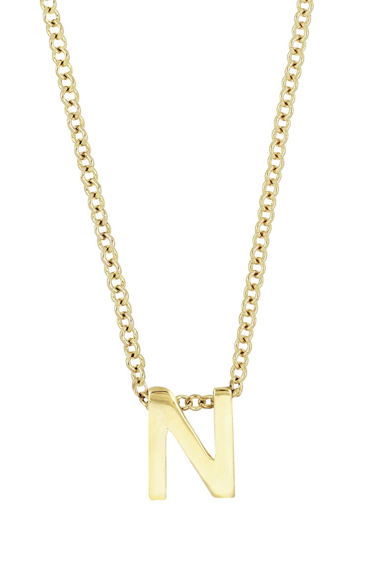BONY LEVY 14K Gold Initial Pendant Necklace, Main, color, YELLOW GOLD- N