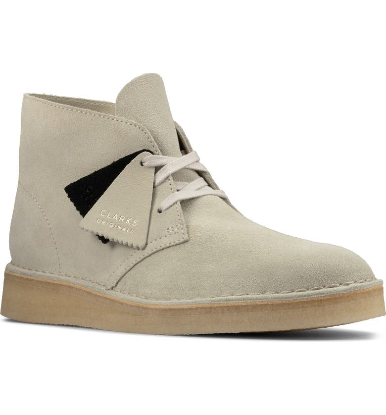 CLARKS<SUP>®</SUP> Desert Coal Chukka Boot, Main, color, OFF WHITE SUEDE