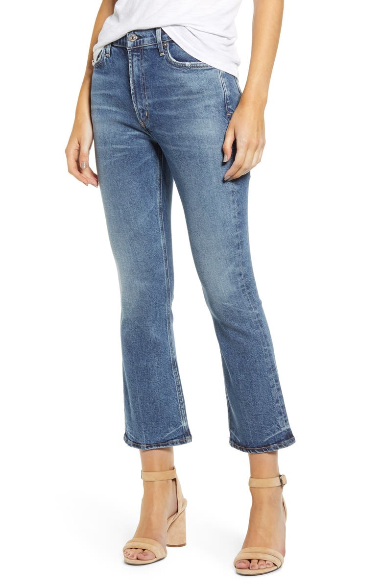 CITIZENS OF HUMANITY Demy High Waist Crop Flare Jeans, Main, color, 422