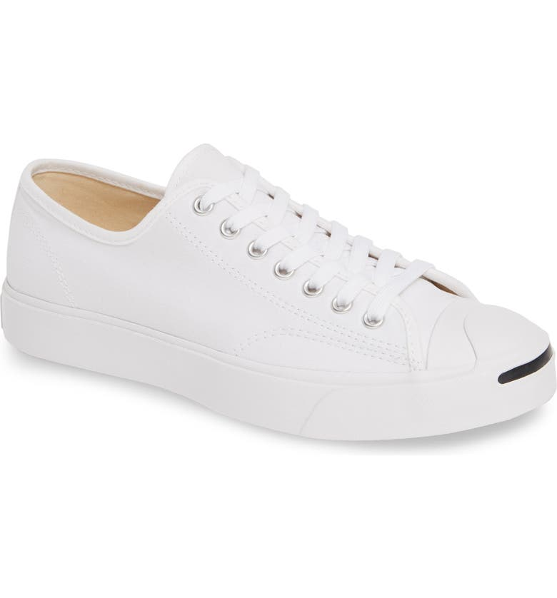 CONVERSE Jack Purcell Low Top Sneaker, Main, color, WHITE/ WHITE/ BLACK