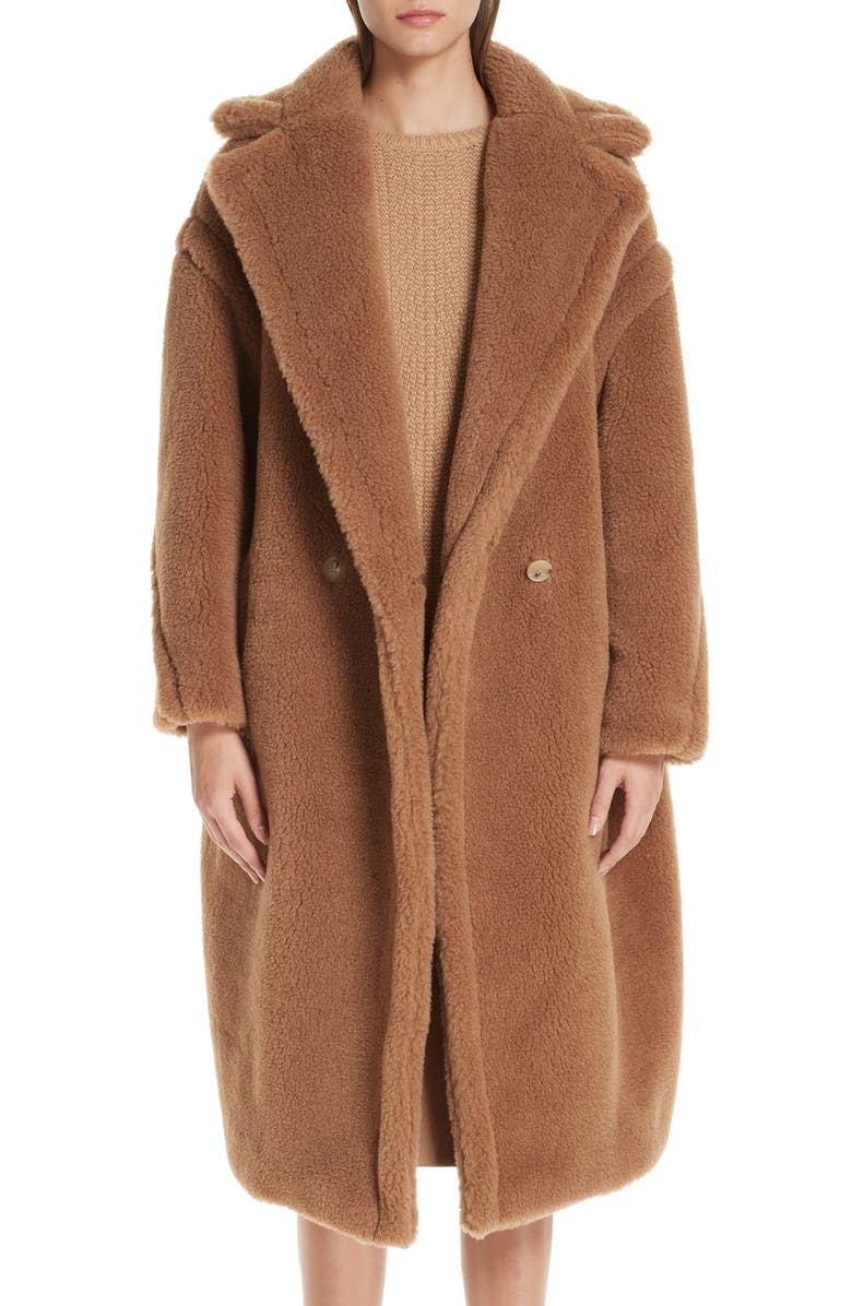 MAX MARA Teddy Bear Icon Faux Fur Coat, Main, color, 250
