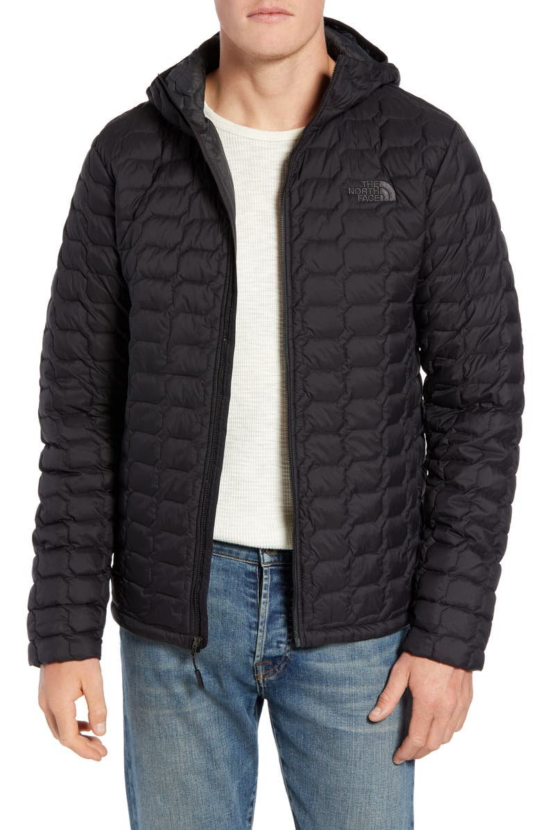 THE NORTH FACE ThermoBall<sup>™</sup> Zip Hoodie, Main, color, TNF BLACK MATTE