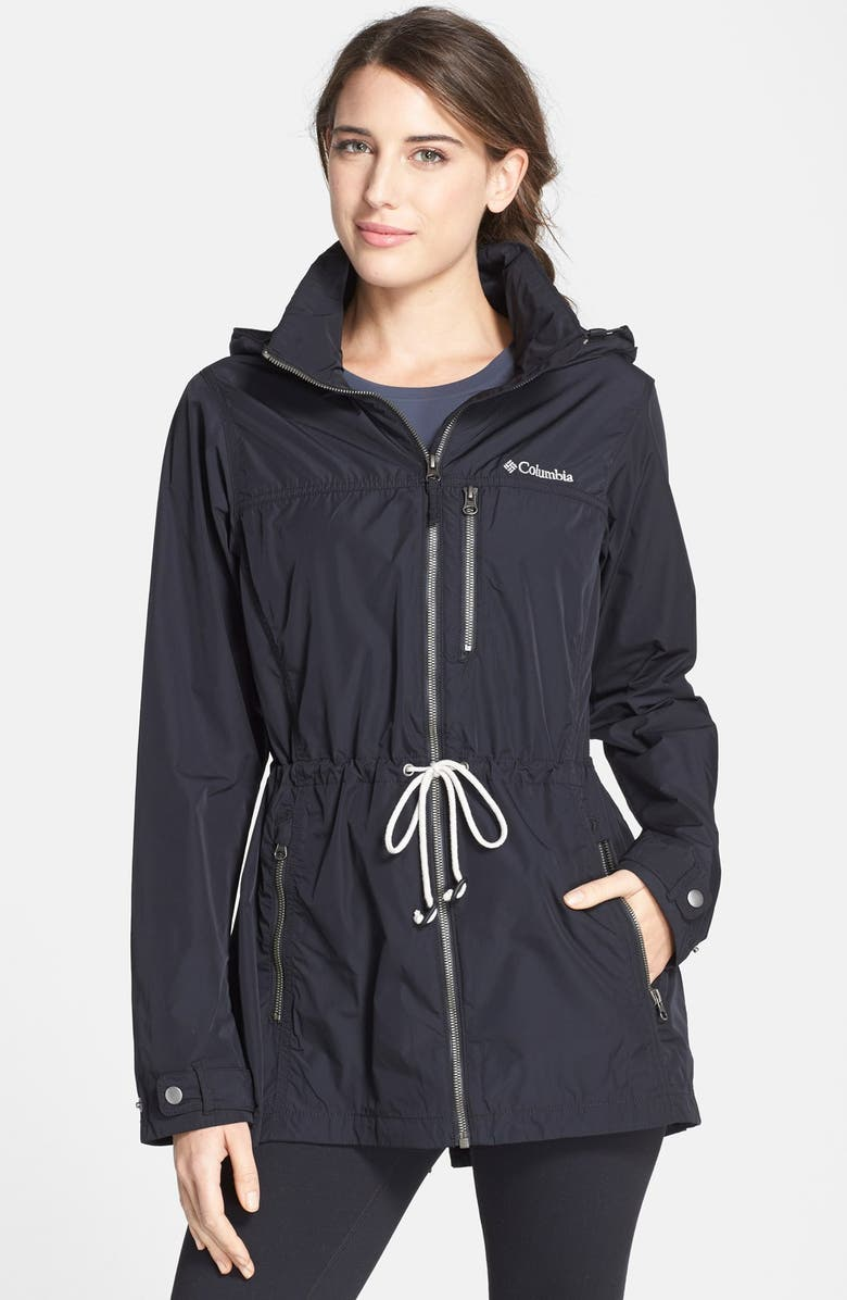 COLUMBIA <sup>®</sup> 'Suburbanizer' Water Resistant Front Zip Hooded Jacket, Main, color, 001