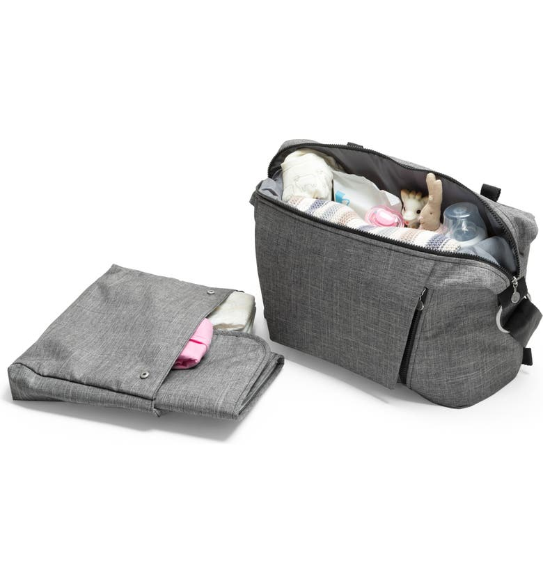 STOKKE Changing Diaper Bag, Main, color, BLACK MELANGE