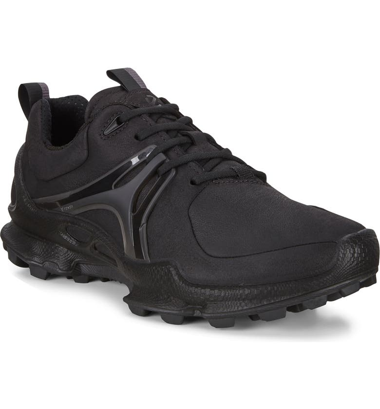 ECCO BIOM<sup>®</sup> C-Trail Water Repellent Running Sneaker, Main, color, BLACK NUBUCK LEATHER