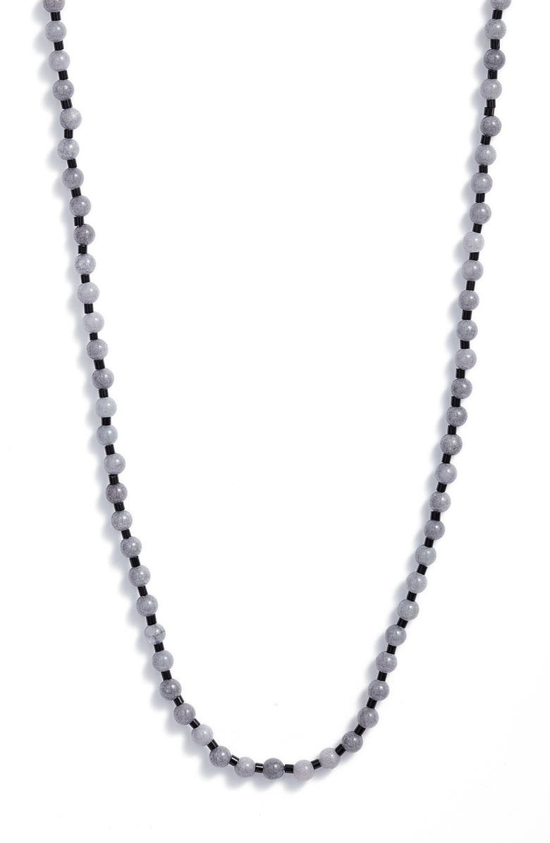 NORDSTROM Beaded Layering Necklace, Main, color, BLUE- BLACK