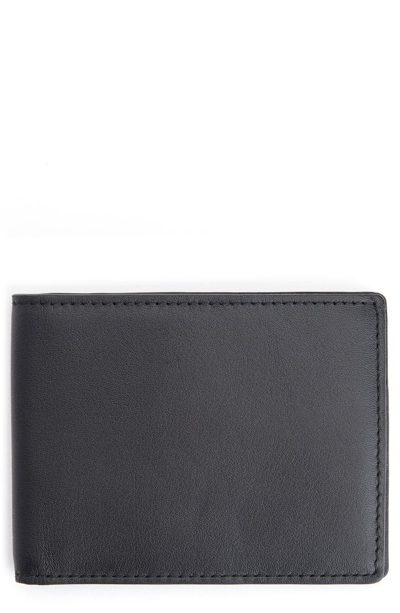 ROYCE NEW YORK RFID Leather Bifold Wallet, Main, color, BLACK