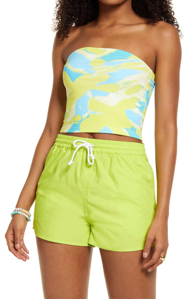 BP. Tube Top, Main, color, GREEN- BLUE PAINTED CAMO