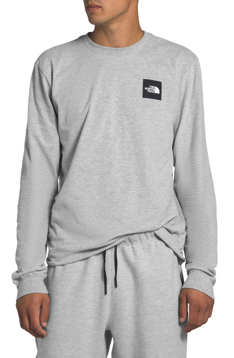 THE NORTH FACE Red Box Long Sleeve Graphic Tee, Main, color, TNF LIGHT GREY HEATHER